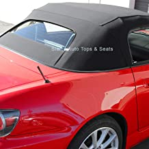 Sierra Auto Tops Convertible Soft Top Replacement, compatible with Honda S2000 2002-2009, w/Heated Glass Window, Stayfast Canvas, Black