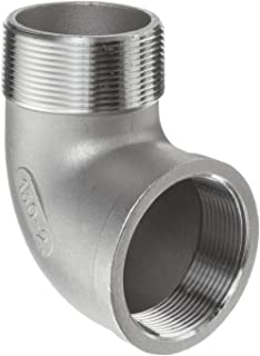 Stainless Steel 316 Cast Pipe Fitting, 90 Degree Street Elbow, Class 150, 2