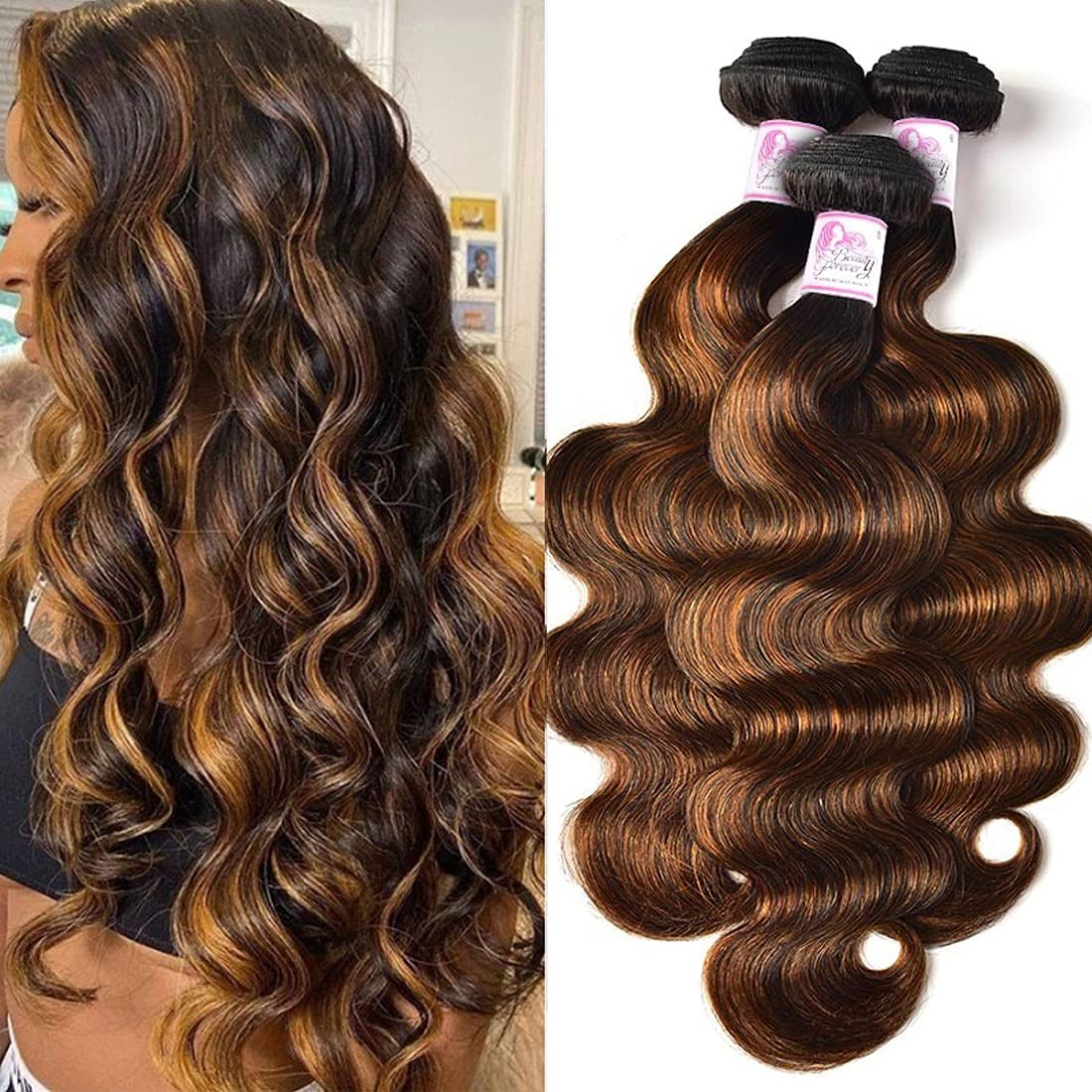 Beauty Forever Ombre Highlight Brazilian Body Wave 3 Hair Outlet sale feature Indefinitely Virgin