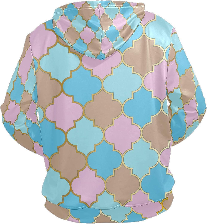 Men's Sport Hoodie Irregular Lattice Pink Blue Watercolor Big and Tall Hoodies for Men Women Oversized Hooded Sweatshirt Hip Hop Pullover Hoodie Midweight Hood for Boys Girls