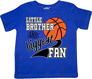 Little Brother and Biggest Fan- Basketball Player Toddler T-Shirt