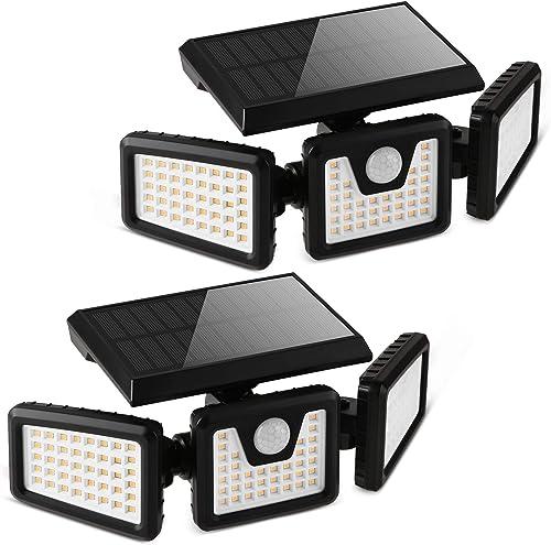 FLOWood Lampe Solaire Exterieur, 118 LED Lampe Solaire Extérieur Detécteur de Mouvement, Lampe LED Extérieur Solaire ...