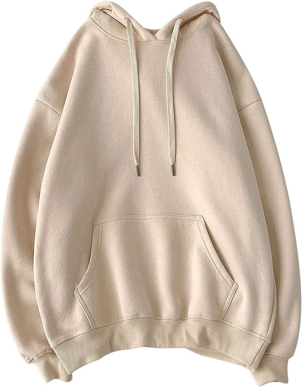 Men's Hoodie Soild Color Lightweight Soft Pullover Hooded Sweatshirt Tops Sport Hoodies Pullover for Men