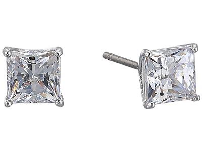 Swarovski Attract Square Stud Pierced Earrings (CZ White) Earring