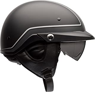 Bell Pit Boss Open-Face Motorcycle Helmet (Pinstripe Black/Grey, X-Small/Small)