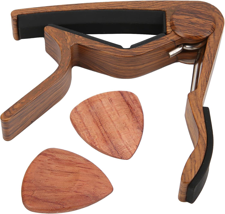 Cejilla de guitarra, apariencia brillante, cambio rápido, abrazadera de gel de sílice de madera maciza, abrazadera de instrumento de cuerda para guitarra popular para guitarra eléctrica