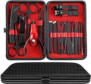 Juego de manicura y pedicura Kit de cortauñas – Kit profesional de aseo de alta precisión de acero inoxidable para uñas li...