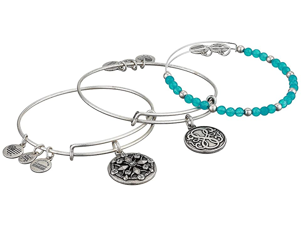 Alex and Ani True Direction Bracelet Set (Silver) Bracelet