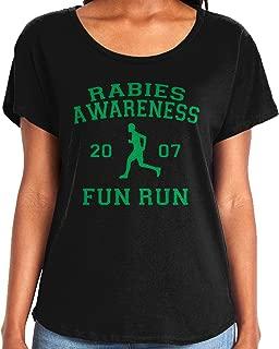 Ladies The Office Rabies Awareness Fun Run 2007 Dolman T-Shirt