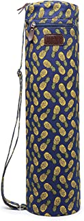 Boence Yoga Mat Bag, Full Zip Exercise Yoga Mat Sling Bag with Sturdy Canvas, Smooth Zippers, Adjustable Strap, Large Functional Storage Pockets - Fits Most Size Mats