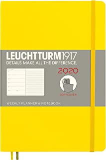 Weekly Planner & Notebook 2020 Softcover Medium (A5), 12 Months, Lemon, English