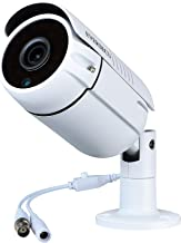 Eversecu 1080P 2.0MP HD CMOS Sensor AHD/TVI/CVI/960H Bullet Analog Camera, 2MP Full HD Weatherproof CCTV Security Camera for Outdoor Surveillance (3.6 mm Lens, Metal, White)