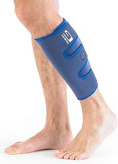 Neo G Calf / Shin Brace - پشتیبانی از تسکین درد از صدمه به هویج، شکاف های شین، اسپری، بازیابی، ورزش، در حال اجرا، دوچرخه سواری - بسته بندی فشرده سازی قابل تنظیم - دستگاه پزشکی کلاس 1 - یک سایز - آبی