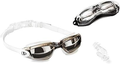 PI-PE Pro zwembril met anti-condens- en uv-bescherming, in grootte verstelbaar, extra dicht, geschikt voor volwassenen, jo...