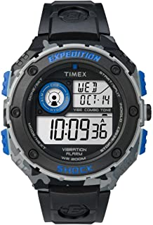 Timex Men's Quartz Watch with Dial Digital Display and Resin Strap