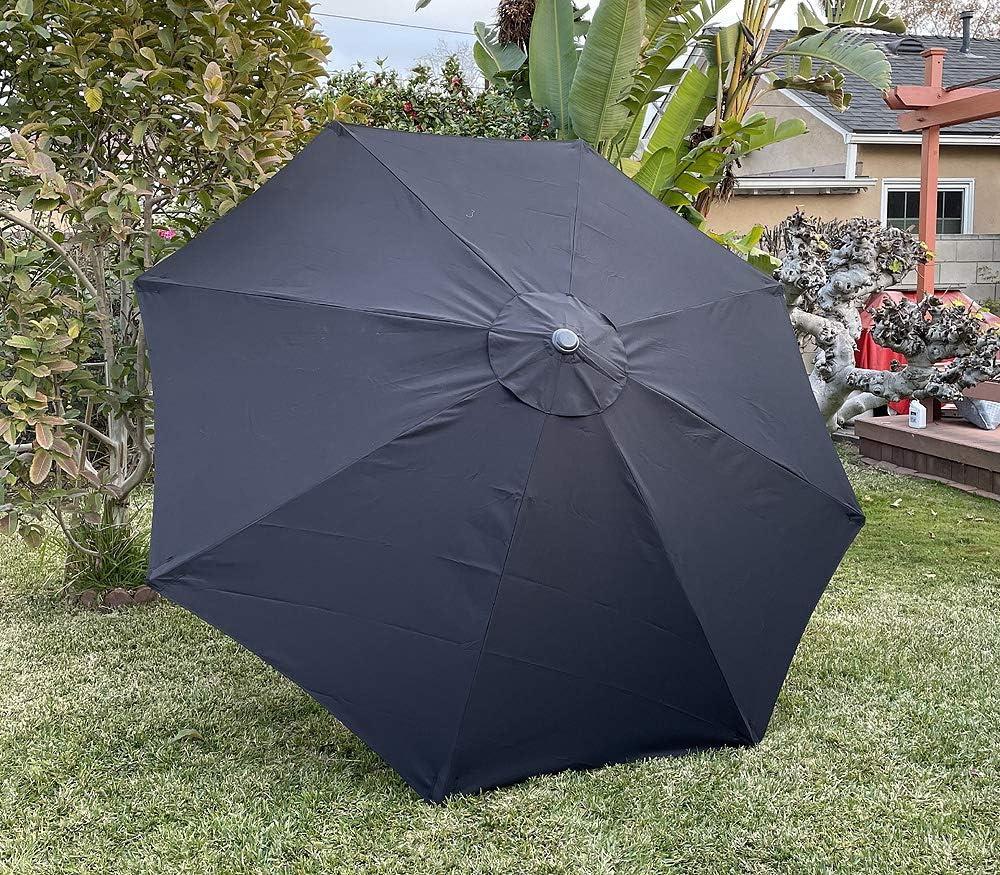 BELLRINO Replacement Black Umbrella Canopy for Ribs 9 8 Cano ft Wholesale Mesa Mall