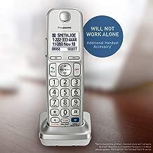 PANASONIC Cordless Phone Handset Accessory Compatible with KX-TGD21XN/ KX-TGC21XS/ KX-TGE27XS Series Cordless Phone Systems - KX-TGEA20S (Silver)