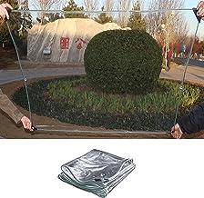 IDWOI schaduw- en regenbestendige zwembadtafelhoes Duidelijk Dekzeil, 0,3 mm Dikte Zachte PVC Tarps Zeer Transparant Plant...