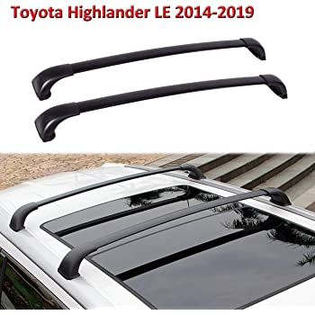Amazon Com Alavente Roof Rack Cross Bars Replacement For Toyota Highlander Le 2014 2015 2016 2017 2018 2019 Roof Rail Crossbars Automotive