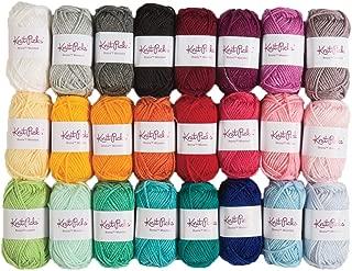 Knit Picks Brava Mini Pack Worsted Premium Acrylic Yarn - 24 Pack (25g Minis, Rainbow)
