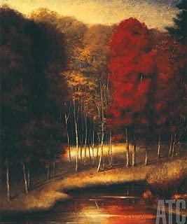 ArtToCanvas 30W x 36H inches : Vermilion Meadow by Robert Striffolino - Canvas w/Brushstrokes