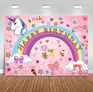 Pink Rainbow Unicorn Theme Photography Backdrops Girls 16 Happy 18 Dream Crazy Big Birthday Decor Sweet Colorful Photo Background Vinyl Children Baby Shower Supplies Party Banner Photo Booth 5x3ft