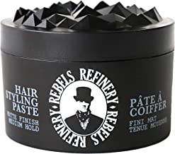 Rebels Refinery Hair Styling Paste for Men – Medium, Flexible Hold and Matte Finish – Adds Texture and Thickness to Thinning Hair – Paraben-Free, Water-Based Formula – 3.5 Oz.
