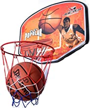 Joerex MINI Basketball Board For Game By Hirmoz- Portable Wall-Mounted, For Indoor Or Outdoor Playground Hoops, orange