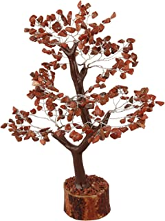 YATHABI Red Jasper Gemstone Beads Tree Feng Shui Bonsai for Crystal Energy Generator Chakra Balancing Reiki Healing EMF Protection Spiritual Meditation Luck Money Home Decor Size: 10-12 Inch