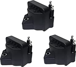 Ignition Coil Pack Set of 3 - Replaces 10472401, 10467067, D555, 89056799 - Compatible with Chevy, Buick, Cadillac & Other...