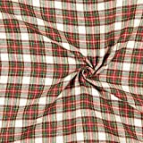 Fabulous Fabrics Flanell wollweiß, Karo, 150cm breit –