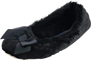 حذاء حريمي من isotoner مصنوع من القطيفة بألوان قوس قزح، مقاس صغير