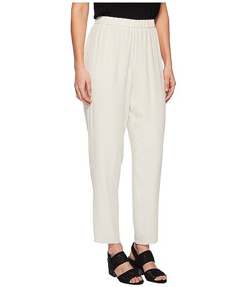 Get Sale Nicekicks Eileen Fisher Slouchy Ankle Pants Bone Silk Georgette Crepe IlrYviAY