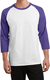 Men's Core 50/50 Blend 3/4-Sleeve Raglan Baseball Tee