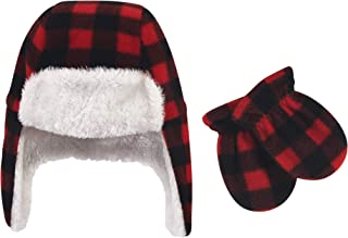 Hudson Baby Unisex Baby and Toddler Fleece Trapper Hat and Mitten