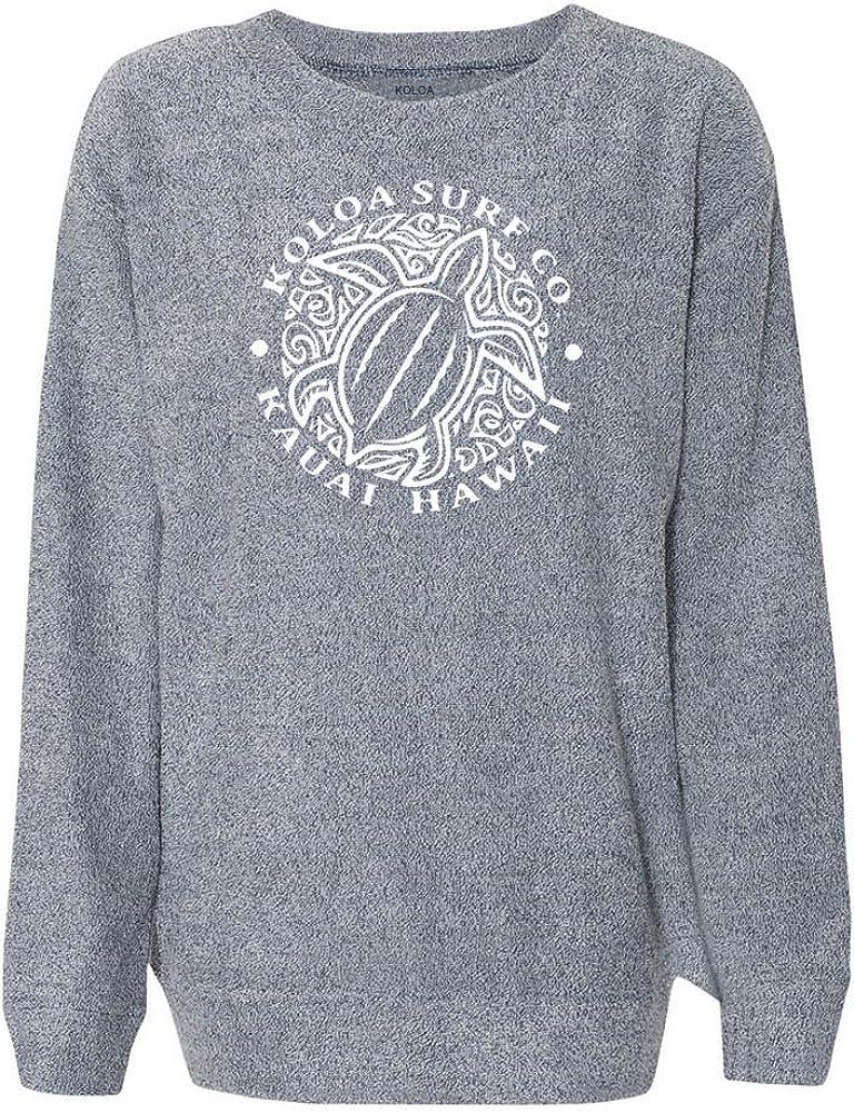 Koloa Surf Honu Turtle Logo Women's Cozy Crewneck Sweatshirt Sizes XS-2XL