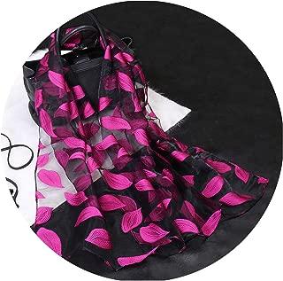 Silk Scarf Womens Summer Breeze Lightweight Sheer Wrap Organza Gauze Scarf S9076