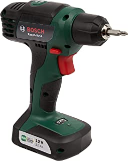 Bosch 06039B3071 EasyDrill 12 Cordless Drill/Driver with Integrated 12 V Lithium-Ion Battery and Carton, Green, 9.0 cm*24....