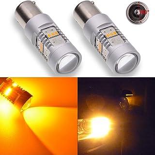yifengshun 4x 7443 7444NA Ampoules de Voiture 5730 33SMD 12-30V 3.6W Super Lumineux LED Avant et Arri/ère Clignotants-Ambre