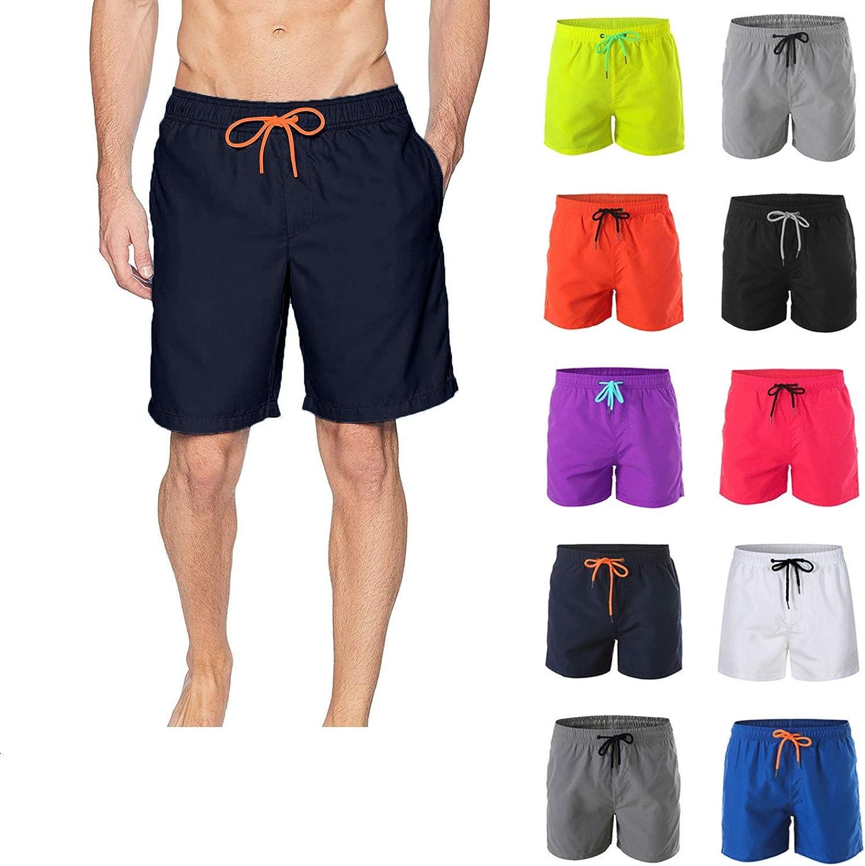 Smooto 低価格化 Men's Swim Shorts Beach 高品質新品 Built-in Casual Trunks Liner