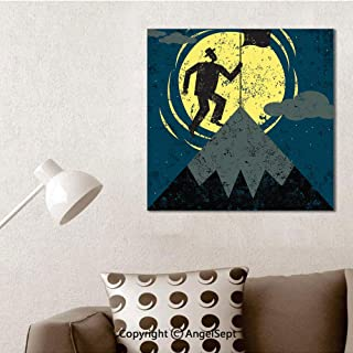 SfeatruAngel_SOSUNG Wall Decor for Bedroom,Planting a Flag on The mountaintop(12