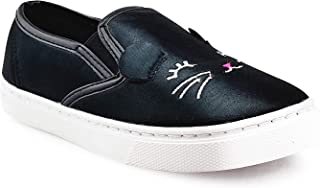 JELLY BEANS Girls Slip On Casual Shoes Sneaker with Kitten Face