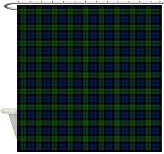 CafePress Black Watch Tartan Celtic Decorative Fabric Shower Curtain (69