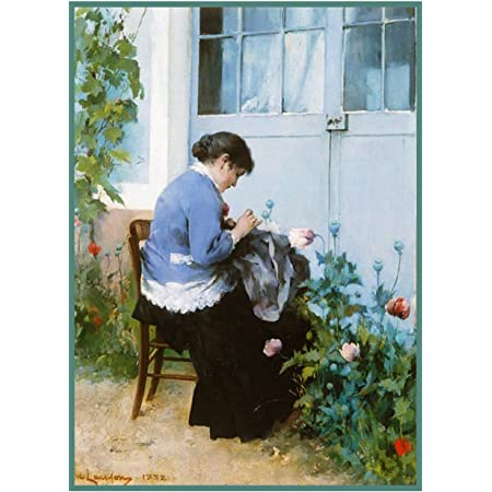 The Carpenters Kids inspired Swedish Carl Larsson  Counted Cross Stitch Pattern