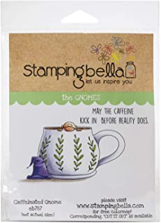 Stamping Bella EB787 Cling Stamps-Caffeinated Gnome
