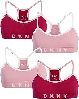 DKNY Girls Cotton/Spandex Racerback Training Bra (4 Pack)