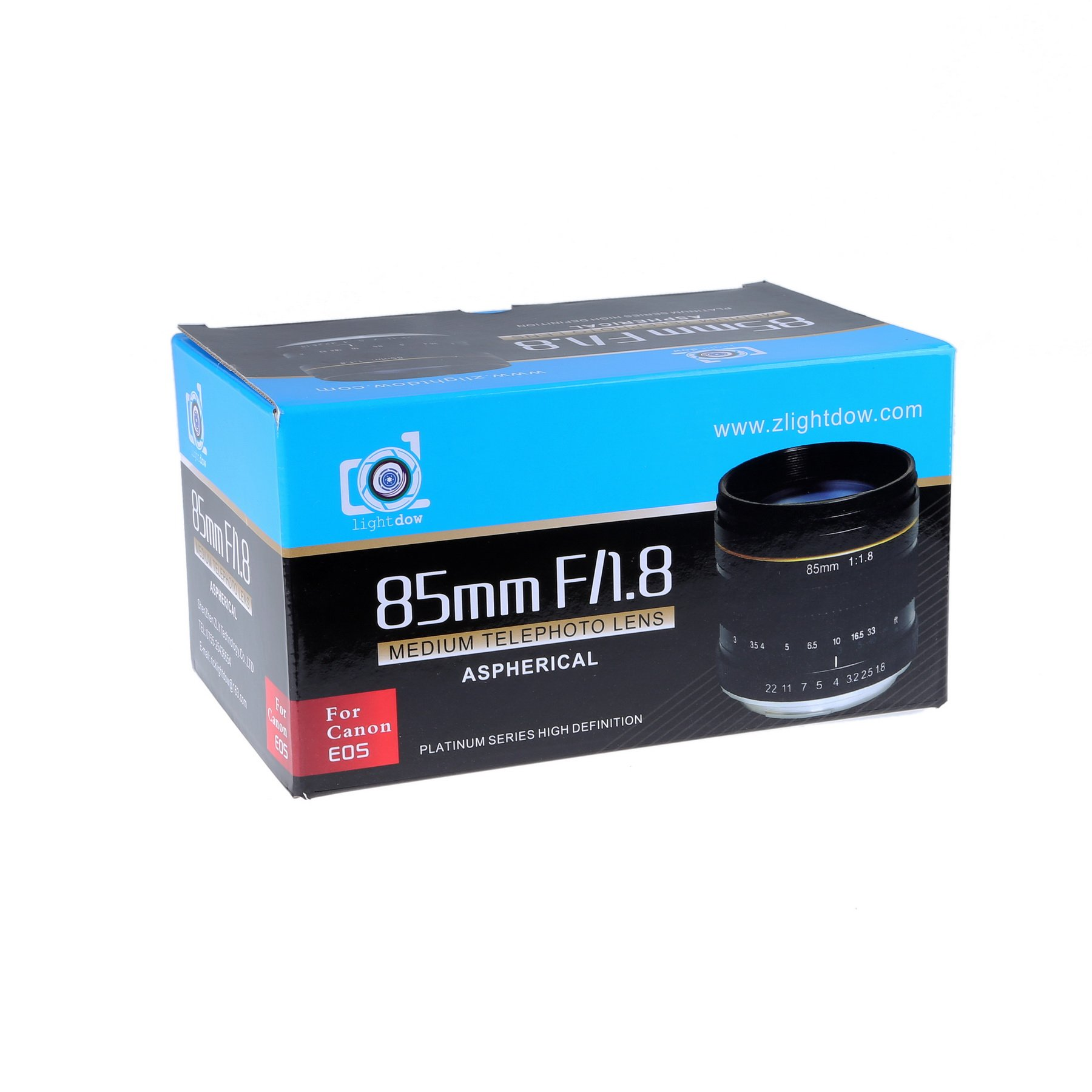 Lightdow 85mm F1.8 Medium Telephoto Manual Focus Full Frame Portrait Lens for Canon EOS Rebel T8i T7i T7 T6 T3i T2i 4000D 2000D 1300D 850D 800D 600D 550D 90D 80D 77D 70D 50D 6D 5D etc