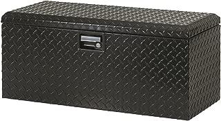 Lund 288271BK 32-Inch Aluminum ATV Storage Box, Diamond Plated, Black