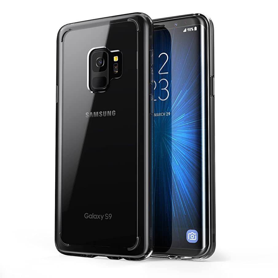 Galaxy S9 Case, [Scratch Resistant] i-Blason Clear [Halo Series] Samsung Galaxy S9 Hybrid Bumper Case Cover 2018 Release (Clear/Black)