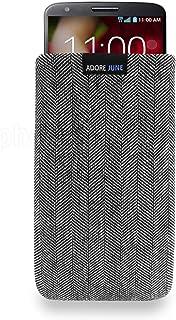 Adore June Funda LG G2, Case [Serie Business] se Ajusta Perfectamente para LG G2. Elegante Cover de Tela Hecho a Mano con Efecto Limpiador de Pantalla.